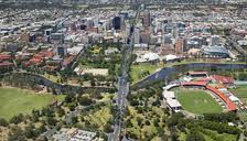 Adelaide Oval and adjacent parklands north of the city centre