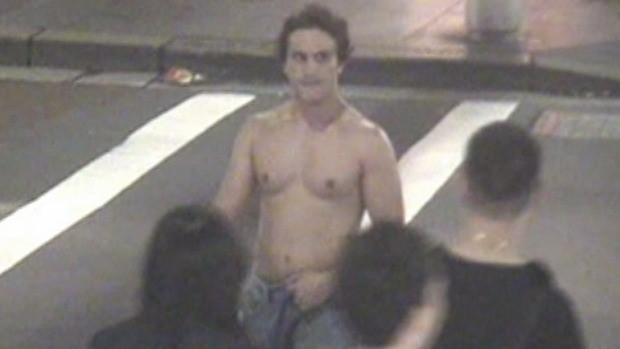 An agitated Curti, the day he died, as seen on CCTV.