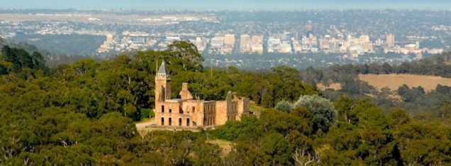 Marble Hill commands a spectacular view over the Adelaide Plains